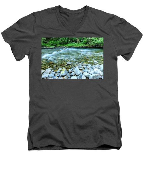 Sol Duc River In Summer Men's V-Neck T-Shirt