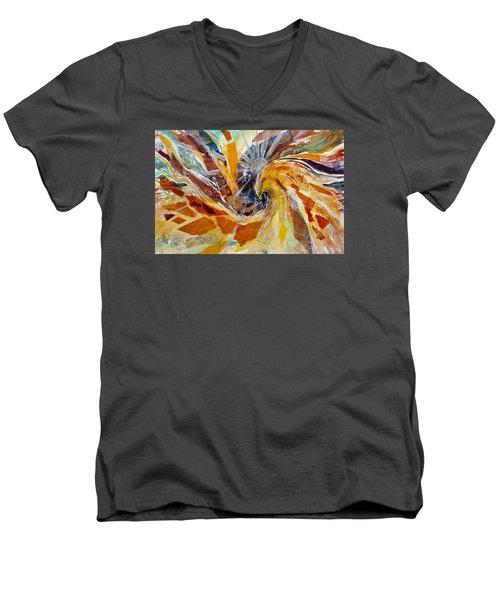 Solar Chakra Meditation Men's V-Neck T-Shirt