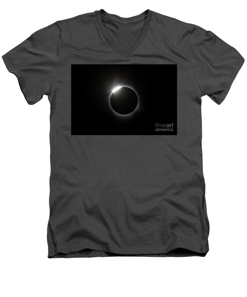 Solar Diamond Ring Men's V-Neck T-Shirt