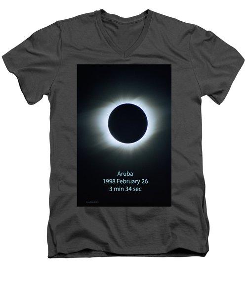 Solar Eclipse Aruba 1998 Men's V-Neck T-Shirt