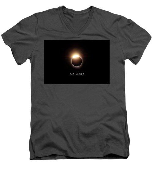 Solar Eclipse Diamond Phase Men's V-Neck T-Shirt