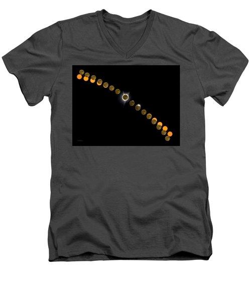 Solar Eclipse Stages 2017 Men's V-Neck T-Shirt