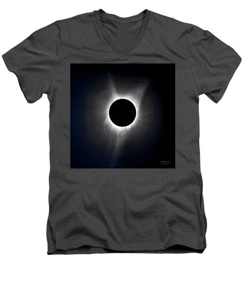 Solar Eclipse Totality Corona Men's V-Neck T-Shirt