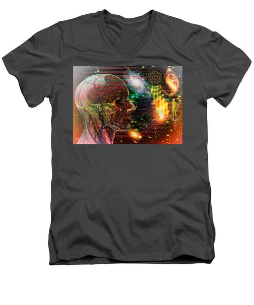 Solar Insight Of Men's V-Neck T-Shirt by Joseph Mosley