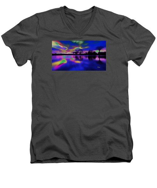 Solar Sunset Men's V-Neck T-Shirt