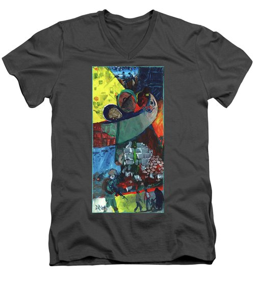 Soldier Family Sacrifice Men's V-Neck T-Shirt