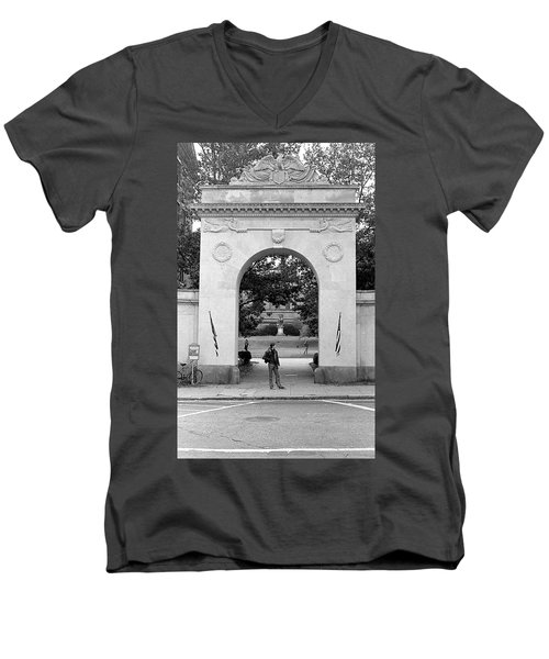 Soldiers Memorial Gate, Brown University, 1972 Men's V-Neck T-Shirt