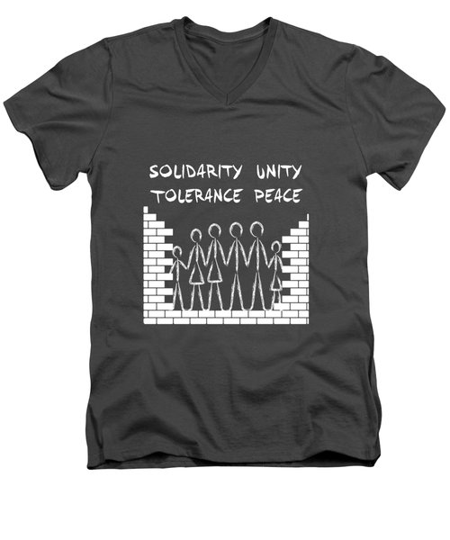 Solidarity Unity Tolerance Peace Men's V-Neck T-Shirt