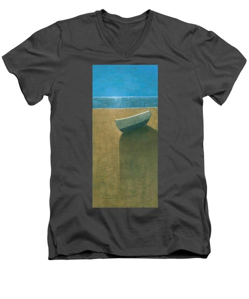 Solitary Boat Men's V-Neck T-Shirt