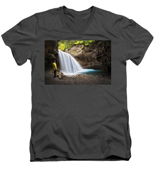Solitary Moment Men's V-Neck T-Shirt by Nicki Frates