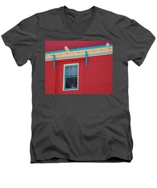 Men's V-Neck T-Shirt featuring the photograph Solitary Window by Richard Bryce and Family