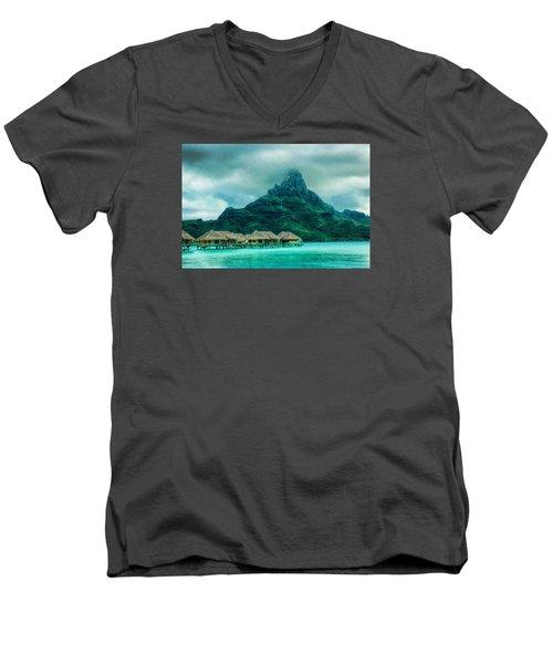 Solitude In Bora Bora Men's V-Neck T-Shirt