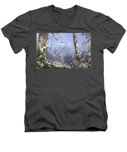 Solitude Men's V-Neck T-Shirt by Jean Walker