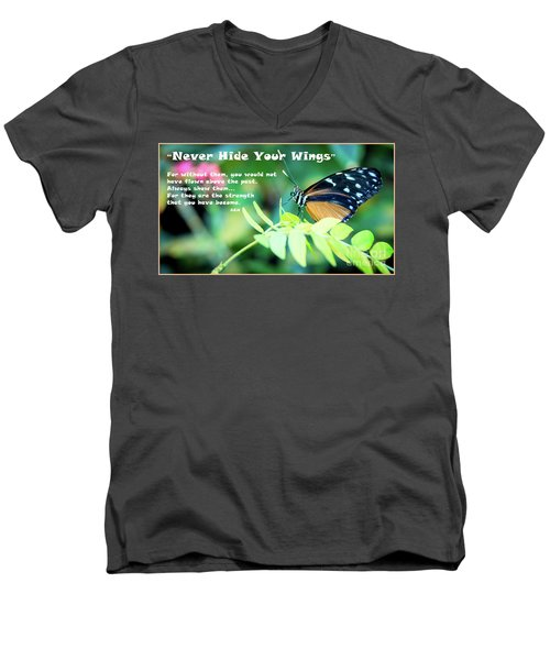 Solitude Moments Men's V-Neck T-Shirt by Deborah Klubertanz