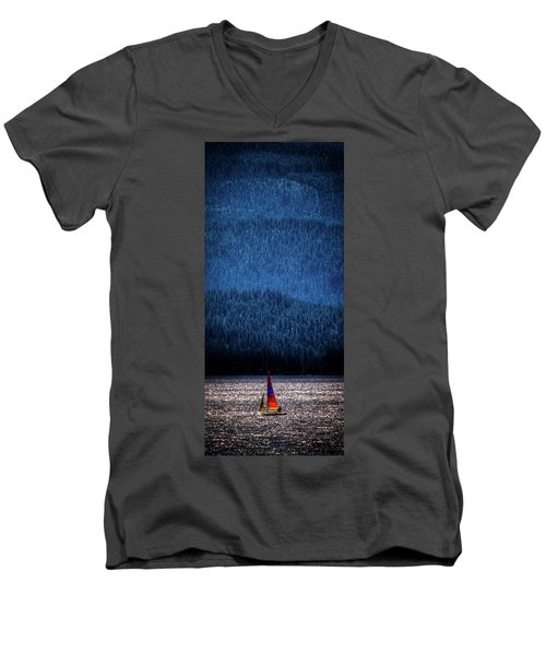 Men's V-Neck T-Shirt featuring the photograph Solitude On Priest Lake by David Patterson