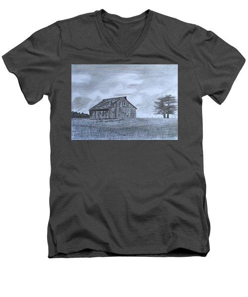 Solitude  Men's V-Neck T-Shirt by Tony Clark