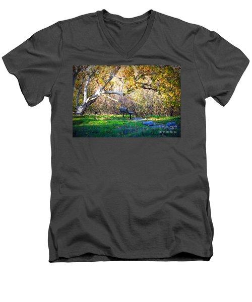 Solitude Under The Sycamore Men's V-Neck T-Shirt
