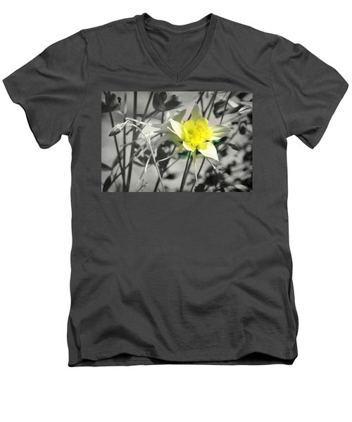 Solo  Men's V-Neck T-Shirt by Clarice Lakota