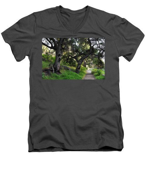 Solstice Canyon Live Oak Trail Men's V-Neck T-Shirt