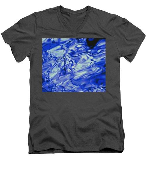 Solvent Blue Men's V-Neck T-Shirt