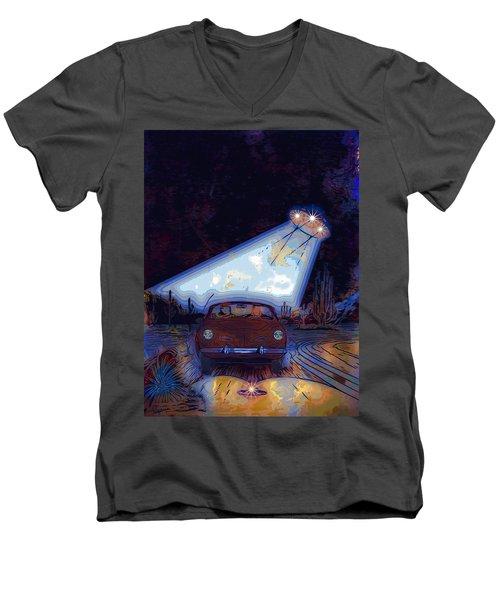Some Enchanted Evening-retro Romance Men's V-Neck T-Shirt