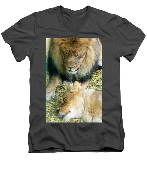 Someone To Watch Over Me Men's V-Neck T-Shirt by David Stasiak