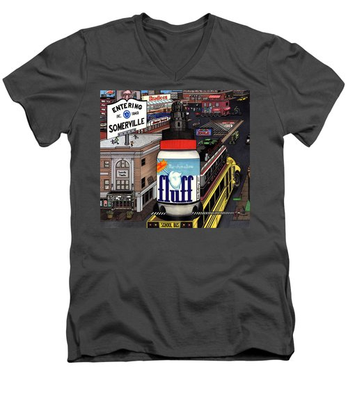 A Strange Day In Somerville  Men's V-Neck T-Shirt by Richie Montgomery