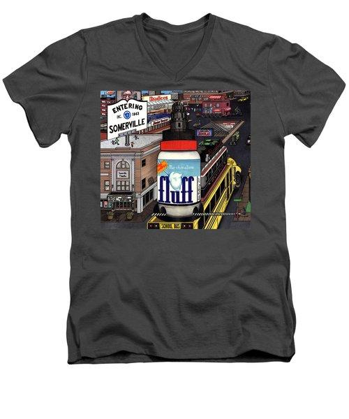 A Strange Day In Somerville  Men's V-Neck T-Shirt