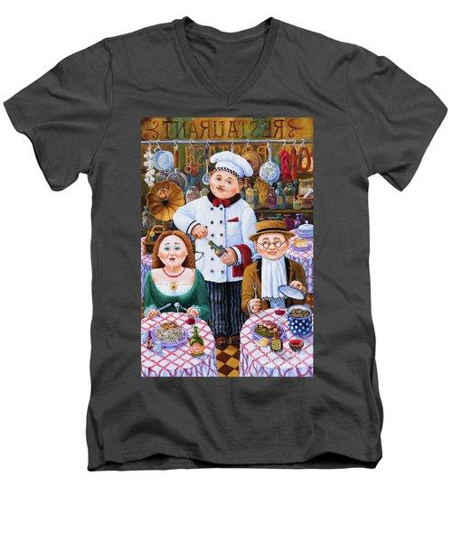 Something About Food 2 Men's V-Neck T-Shirt