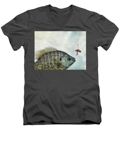 Men's V-Neck T-Shirt featuring the photograph Something Fishy by Mark Fuller