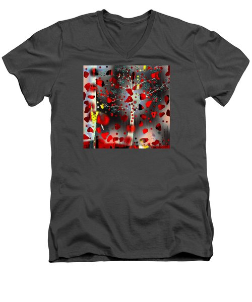 Men's V-Neck T-Shirt featuring the digital art Lift Me Up by Yul Olaivar