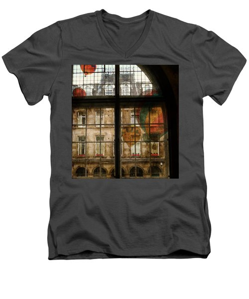 Men's V-Neck T-Shirt featuring the photograph Something In The Air by Paul Lovering