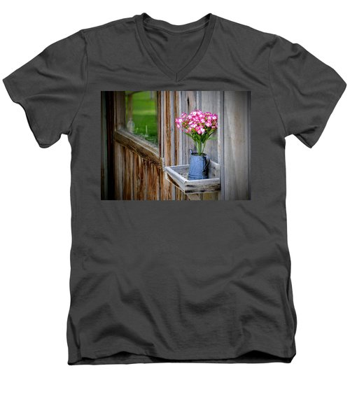 Men's V-Neck T-Shirt featuring the photograph Something Old Something New by AJ Schibig