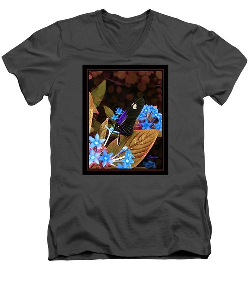 Men's V-Neck T-Shirt featuring the photograph Something Sweet by Steven Lebron Langston