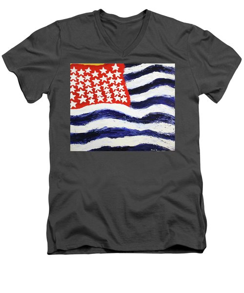 Something's Wrong With America Men's V-Neck T-Shirt by Thomas Blood