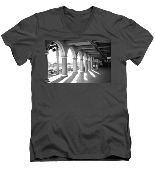Men's V-Neck T-Shirt featuring the photograph Sometimes The Party Is Over by Lora Lee Chapman
