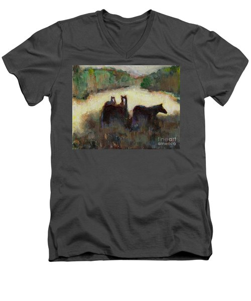 Sometimes We Need To Get Out Of The Heat Men's V-Neck T-Shirt