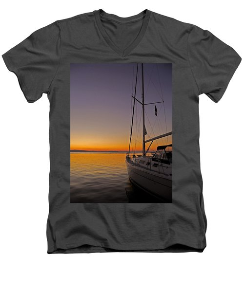 Somewhere Beyond The Sea ... Men's V-Neck T-Shirt