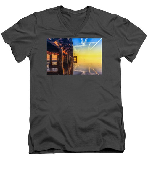 Men's V-Neck T-Shirt featuring the photograph Somewhere Else by Thierry Bouriat