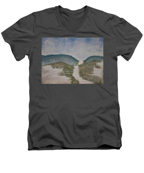 Somewhere In Florida Men's V-Neck T-Shirt by Antonio Romero