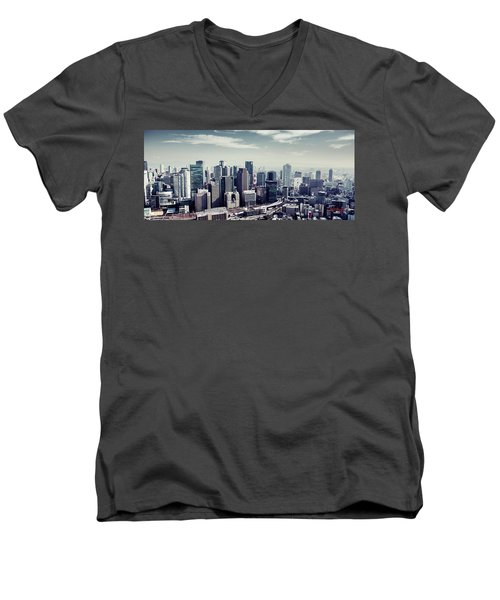 Men's V-Neck T-Shirt featuring the photograph Somewhere In Japan by Joseph Westrupp