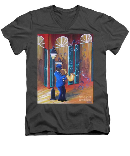 Somewhere On Bourbon Street Men's V-Neck T-Shirt