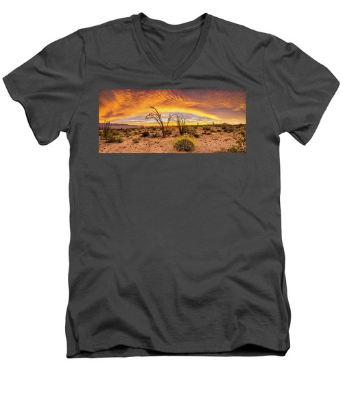 Men's V-Neck T-Shirt featuring the photograph Somewhere Over by Peter Tellone