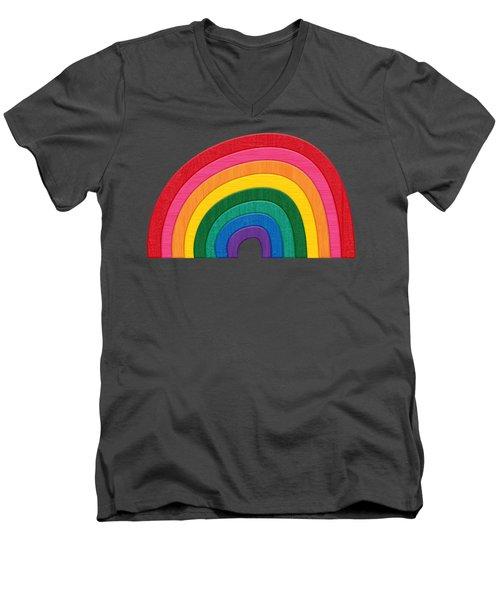 Somewhere Over The Rainbow Men's V-Neck T-Shirt by Pristine Cartera Turkus