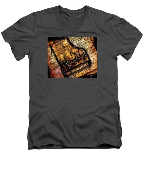 Sonata In Ace Minor Men's V-Neck T-Shirt