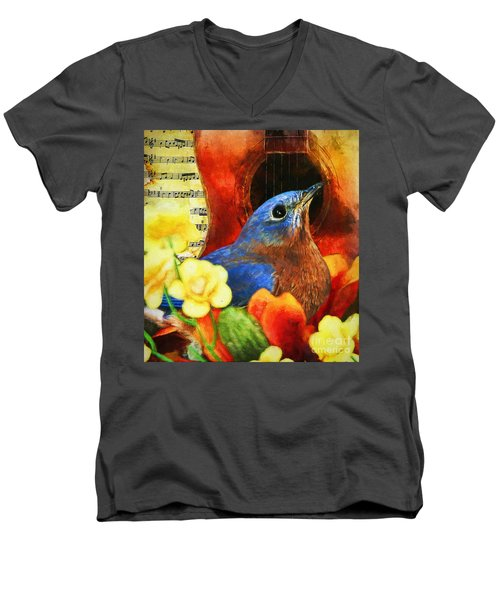Songbird Men's V-Neck T-Shirt