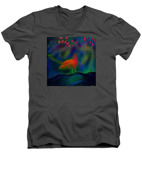 Songs Of Forest Men's V-Neck T-Shirt by Latha Gokuldas Panicker