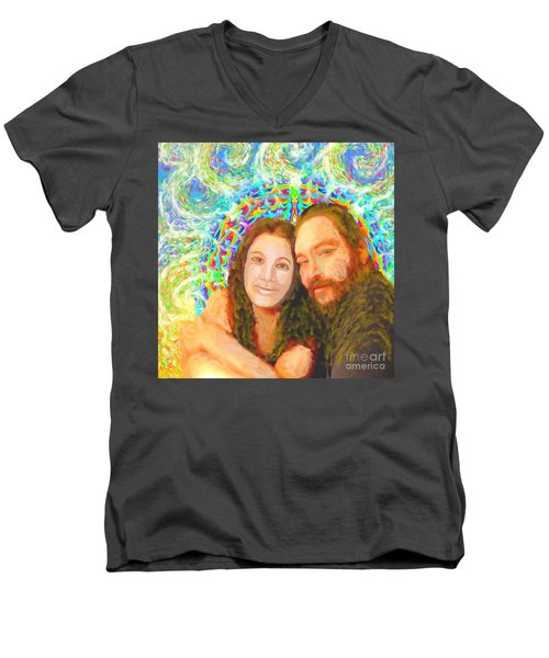 Sonia Marie And Her Sweetheart Men's V-Neck T-Shirt