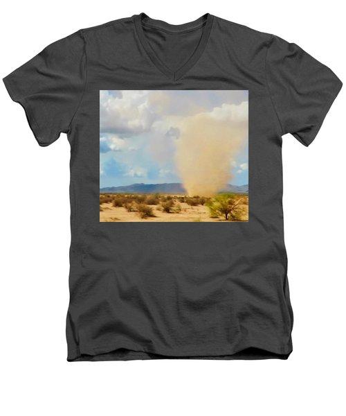 Sonoran Desert Dust Devil Men's V-Neck T-Shirt