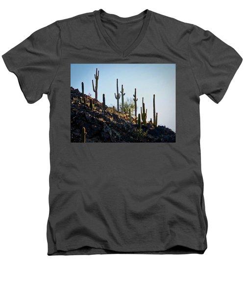 Sonoran Desert Saguaro Slope Men's V-Neck T-Shirt